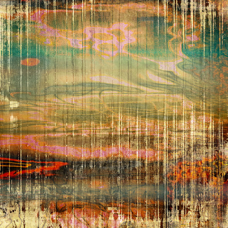 eroded: Grunge background with vintage style graphic elements, retro feeling composition and different color patterns: yellow (beige); brown; gray; green; blue; red (orange)