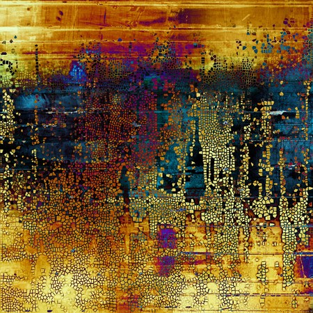 Creative vintage grunge texture or ragged old background for art projects. With different color patterns: yellow (beige); brown; blue; red (orange); purple (violet)