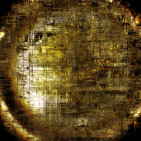 urban decay: Spherical old school aged texture or background for retro grunge design. With different color patterns: yellow (beige); brown; gray; black; white