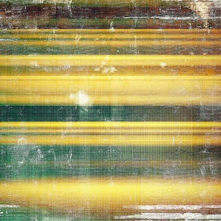 Vintage style background with ancient grunge elements. Aged texture with different color patterns: yellow (beige); brown; gray; green Stock Photo