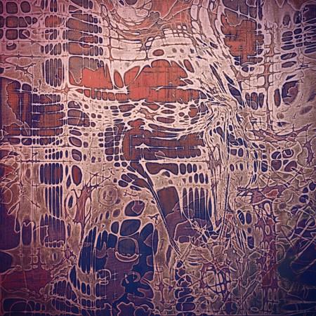 violet red: Decorated texture, antique vintage background with different color patterns: brown; red (orange); purple (violet); pink