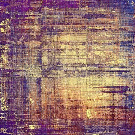 urban decay: Retro grunge vintage background or weathered antique texture with different color patterns: yellow (beige); brown; gray; blue; purple (violet); pink Stock Photo