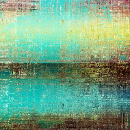 exceptional: Weathered grunge elements on vintage texture for your design. Aged background with different color patterns: yellow (beige); brown; green; blue; cyan