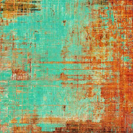 다채로운 추상 복고풍 배경, 빈티지 텍스처 세. 다른 색상 패턴 : 노란색 (베이지 색); 갈색; 푸른; 빨간색 (주황색); 시안 색