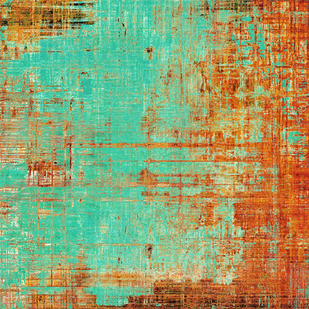 Colorful abstract retro background, aged vintage texture. With different color patterns: yellow (beige); brown; blue; red (orange); cyan Imagens