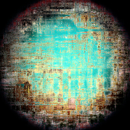 nice looking: Spherical nice looking grunge texture or abstract background. With different color patterns: yellow (beige); brown; blue; cyan; black Stock Photo