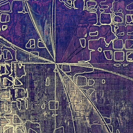 tincture: Geometric grunge texture or background with retro design elements and different color patterns: yellow (beige); gray; blue; purple (violet); pink