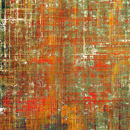 Retro design on grunge background or aged faded texture. With different color patterns: yellow (beige); brown; green; red (orange); white