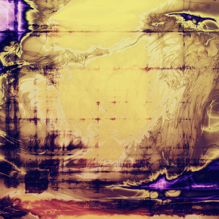 obscure: Grunge texture, scratched surface or vintage background. With different color patterns: yellow (beige); brown; blue; red (orange); purple (violet)