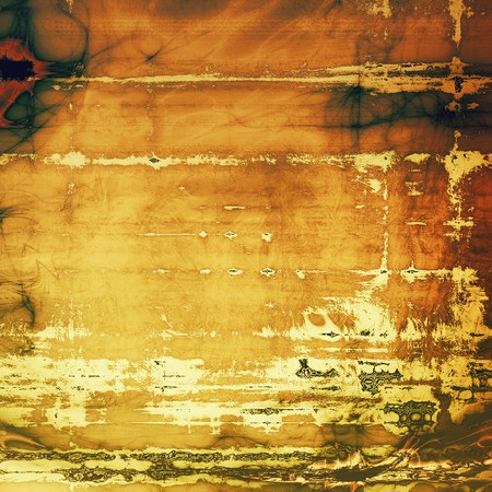 Vintage elegant background, creased grunge backdrop with aged texture and different color patterns: yellow (beige); brown; gray; green; red (orange) Stock Photo