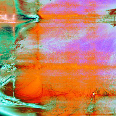 Old school background or texture with vintage style grunge elements and different color patterns: yellow (beige); green; blue; red (orange); purple (violet); cyan Stock Photo