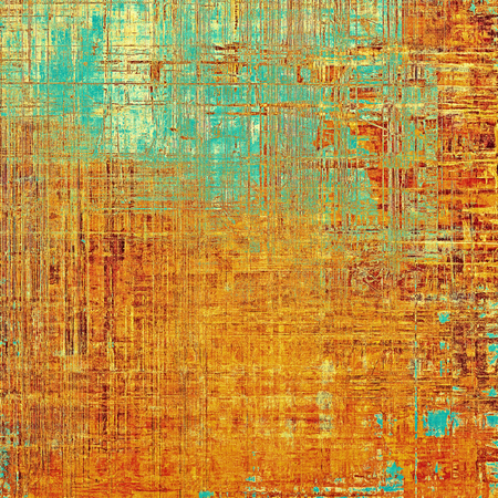 Grunge background or texture with vintage frame design and different color patterns: yellow (beige); brown; blue; red (orange)