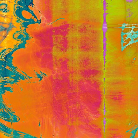 Vintage decorative background, antique grunge texture with different color patterns: yellow (beige); blue; red (orange); purple (violet); cyan; pink