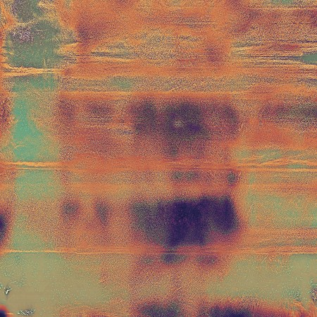 Scratched vintage texture, grunge style frame or background. With different color patterns: brown; gray; green; red (orange); purple (violet); cyan
