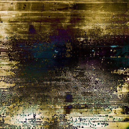 burnt edges: Vintage elegant background, creased grunge backdrop with aged texture and different color patterns: yellow (beige); brown; green; blue; purple (violet); black