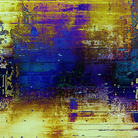 crisscross: Abstract grunge background or damaged vintage texture. With different color patterns: yellow (beige); brown; green; blue; purple (violet); black