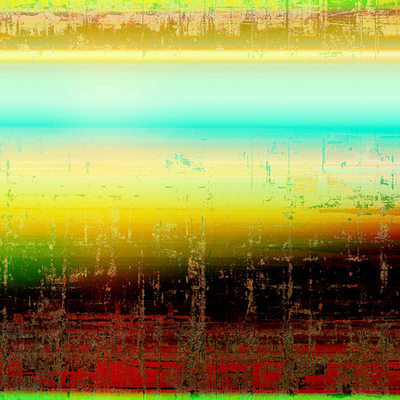 Colorful grunge background, tinted vintage style texture. With different color patterns: yellow (beige); brown; green; blue; red (orange); black Stock Photo
