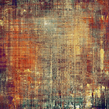 violet red: Damaged retro texture with grunge style elements and different color patterns: yellow (beige); brown; gray; red (orange); purple (violet) Stock Photo