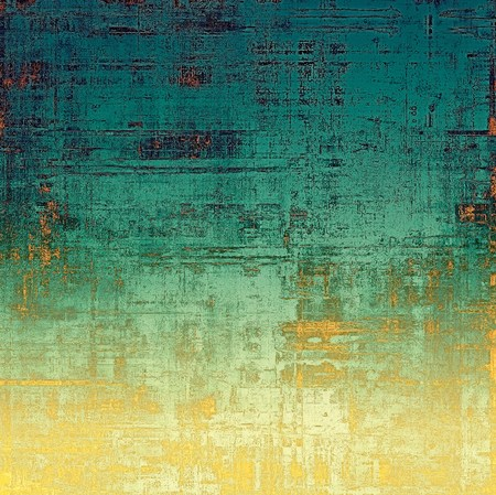 crosshatched: Elegant vintage background, grunge design template. Ancient texture with different color patterns: yellow (beige); green; blue; red (orange); cyan