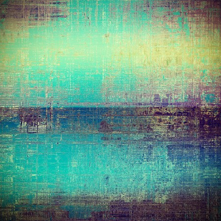 Retro style background with grungy vintage texture and different color patterns: yellow (beige); brown; blue; purple (violet); pink; cyan