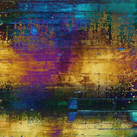 Colorful grunge background, tinted vintage style texture. With different color patterns: yellow (beige); green; blue; red (orange); purple (violet); black Stock Photo