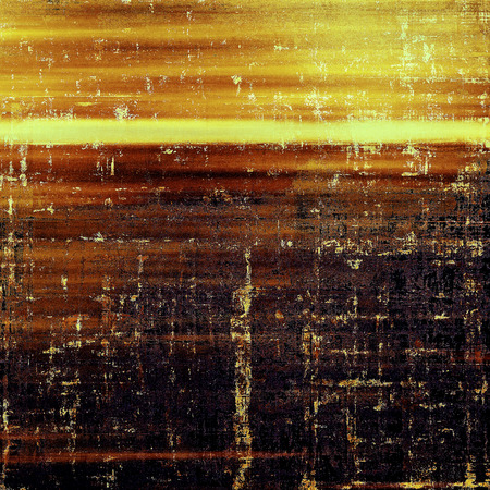 Retro background with vintage style design elements, scratched grunge texture, and different color patterns: yellow (beige); brown; red (orange); purple (violet); black