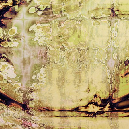 tincture: Grunge abstract textured background, aged backdrop with different color patterns: yellow (beige); brown; green; gray; purple (violet); white Stock Photo