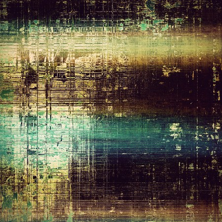 Old grungy stylish composition, vintage texture with different color patterns: yellow (beige); brown; green; blue; purple (violet); black