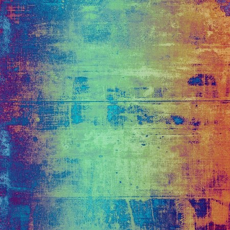 Retro vintage colored background with noise effect; grunge texture with different color patterns: yellow (beige); brown; blue; red (orange); purple (violet); cyan Фото со стока