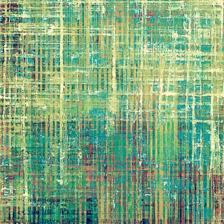 crosshatched: Retro design on grunge background or aged faded texture. With different color patterns: yellow (beige); green; blue; pink; cyan; white Stock Photo