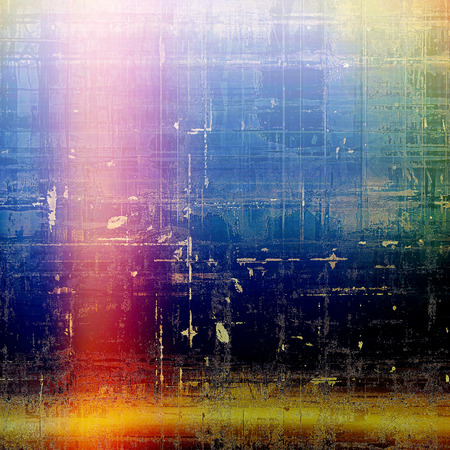 Vintage elegant background, creased grunge backdrop with aged texture and different color patterns: yellow (beige); green; blue; red (orange); purple (violet); black