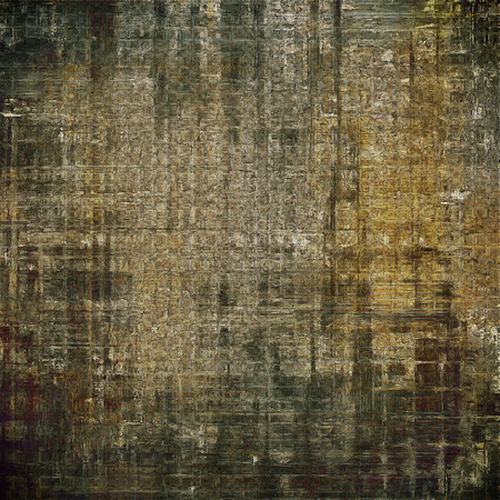 tincture: Oldest vintage background in grunge style. Ancient texture with different color patterns: yellow (beige); brown; gray; black Stock Photo