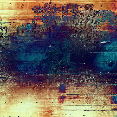 Colorful scratched background or grungy texture. With different color patterns: yellow (beige); brown; blue; red (orange); purple (violet) Stock Photo