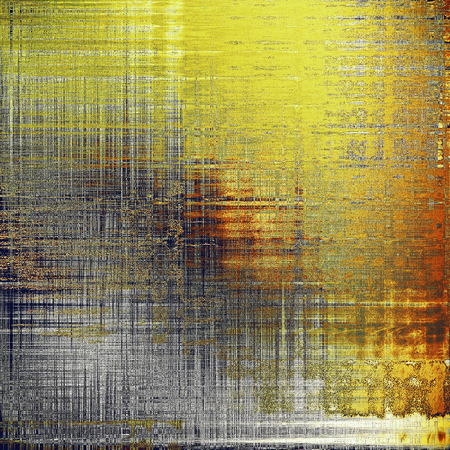Abstract grunge background or damaged vintage texture. With different color patterns: yellow (beige); brown; gray; red (orange); black Stock Photo