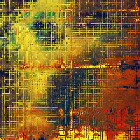 Old grungy stylish composition, vintage texture with different color patterns: yellow (beige); brown; green; blue; red (orange)
