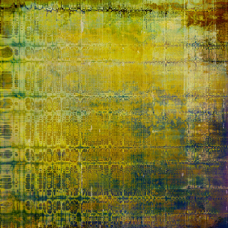 tincture: Antique frame or background with vintage feeling. Aged texture with different color patterns: yellow (beige); brown; green; blue