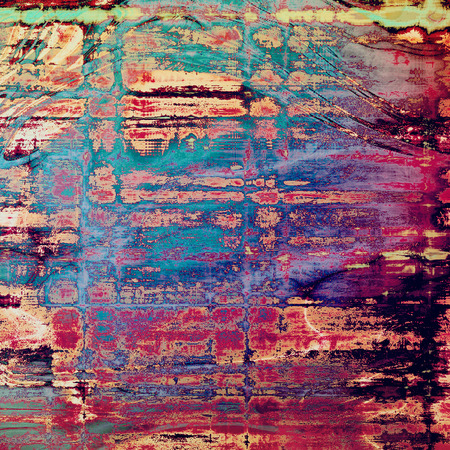 Distressed texture, faded grunge background or backdrop. With different color patterns: yellow (beige); blue; red (orange); purple (violet); pink; cyan Stock Photo