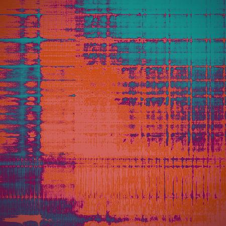 Scratched vintage texture, grunge style frame or background. With different color patterns: blue; red (orange); purple (violet); pink
