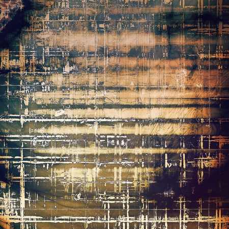crosshatched: Abstract dirty texture or grungy background. With old style decorative elements and different color patterns: yellow (beige); brown; gray; purple (violet); black