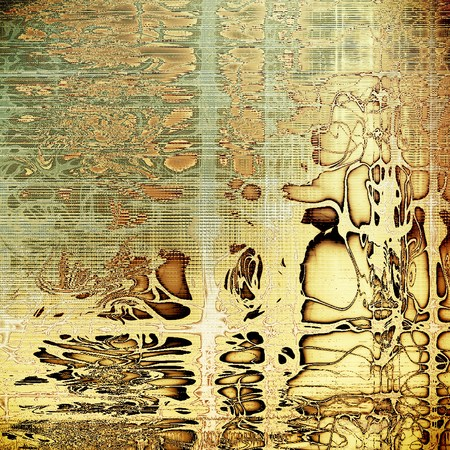 eroded: Oldest vintage background in grunge style. Ancient texture with different color patterns: yellow (beige); brown; gray; black; white