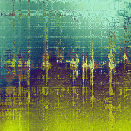 eroded: Grunge background or vintage texture in traditional retro style. With different color patterns: yellow (beige); brown; green; blue; purple (violet); cyan