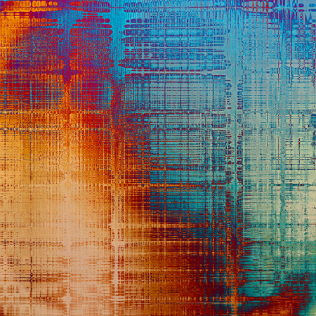 Art grunge texture, vintage abstract background for creative design. With different color patterns: yellow (beige); brown; blue; red (orange); purple (violet); cyan Stock Photo