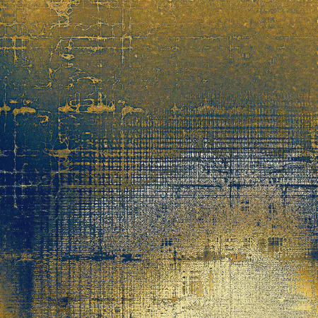 tincture: Damaged retro texture with grunge style elements and different color patterns: yellow (beige); brown; blue; gray; white Stock Photo