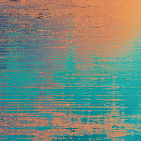 nice looking: Beautiful retro background, nice looking ancient texture with different color patterns: yellow (beige); brown; blue; red (orange); cyan