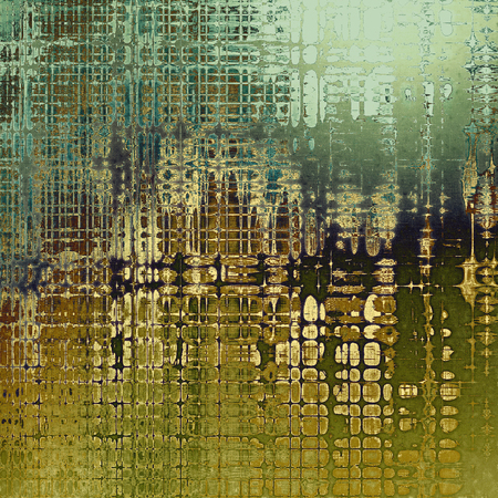 tincture: Old grunge vintage background or shabby texture with different color patterns: yellow (beige); brown; green; blue; gray; cyan