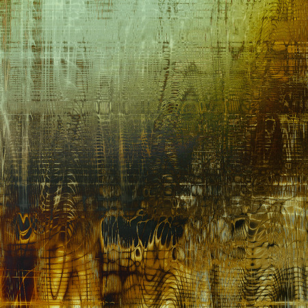eroded: Antique texture, weathered background with vintage look and different color patterns: yellow (beige); brown; green; gray; cyan; black