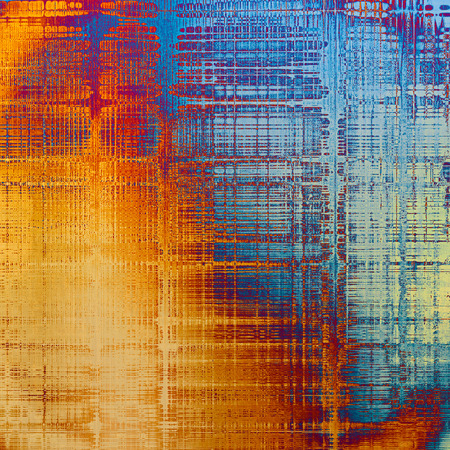 crosshatch: Aged textured background, macro closeup grungy backdrop with different color patterns: yellow (beige); blue; red (orange); purple (violet); cyan