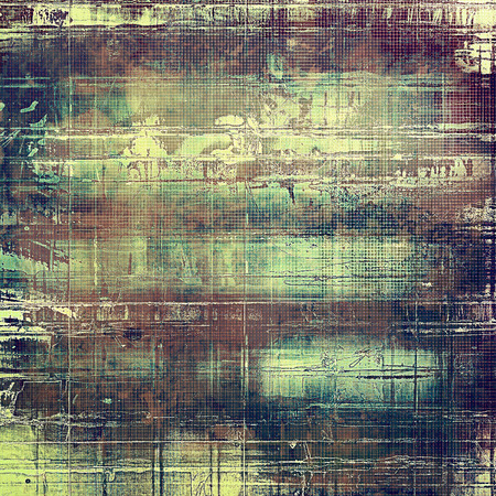 eroded: Abstract grunge background or aged texture. Old school backdrop with vintage feeling and different color patterns: yellow (beige); brown; green; gray; blue; purple (violet)
