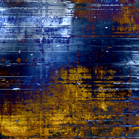 Retro grunge vintage background or weathered antique texture with different color patterns: yellow (beige); brown; blue; white