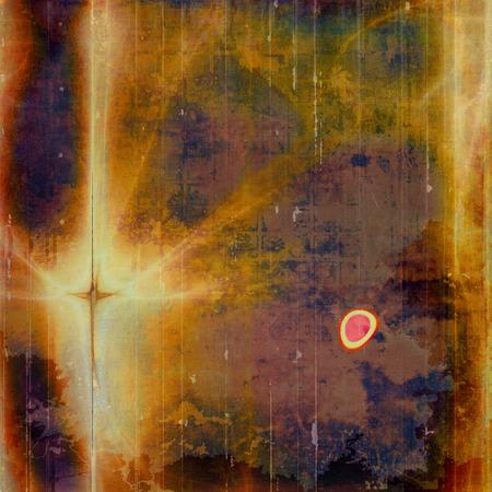 fibrous: Vintage decorative background, antique grunge texture with different color patterns: yellow (beige); brown; green; blue; red (orange); purple (violet)